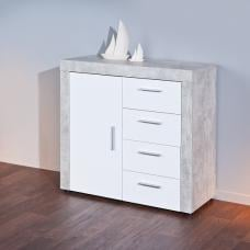Croagh Sideboard In Light Grey And White With 4 Drawers