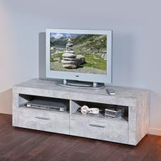 Croagh LCD TV Stand In Light Grey With 2 Drawers