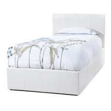 Mollus Ottoman Bed In White Faux Leather
