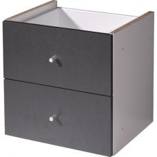 Linea Anthracite Cabinet Front With 2 Drawers