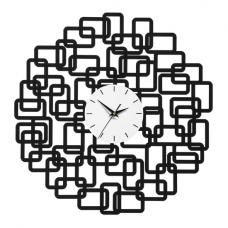 Gracie Wall Clock In Black Metal With Squares Design