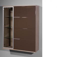 Boston Gloss Brown 3 Door Wall Cabinet