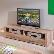 Utopia Wooden LCD TV Stand In Wild Oak With 2 Drawers