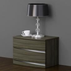 Janet Oak Finish Bedside Cabinet With 2 Drawer