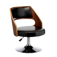 Bordo Bar Chair In Black Padded Seat With Chrome Base