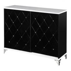 Scout Sideboard In Black And White Gloss With Diamante Details