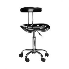 Hanoi Office Chair In Black ABS With Chrome Base And 5 Wheels
