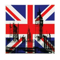 London Building Lacquered Print Wall Art
