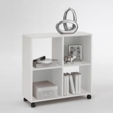 Sprint Wheeled Shelving Unit in White