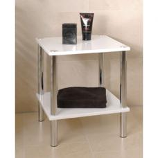 Maine 2 Tier Occasional Table In High Gloss White