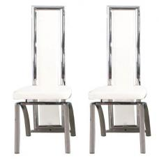 Chicago White Dining Chairs In A Pair