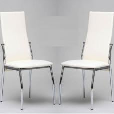 Folio White Dining Room Chair in A Pair