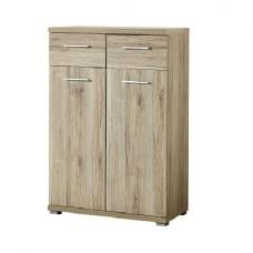 Elina Shoe Cabinet In Sanremo Oak With 2 Doors and 2 Drawers