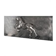 Big Horse Wall Mounted Coat Rack In Black Nickel With 6 Hooks