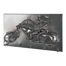 Moto Duo Wall Mounted Coat Rack In Black Nickel With 5 Hooks