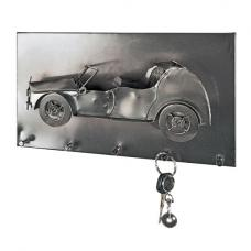Cabrio Wall Mounted Coat Rack In Black Nickel With 5 Hooks