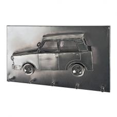 Car Wall Mounted Coat Rack In Black Nickel With 5 Hooks
