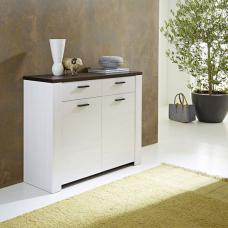 Hampton Small Wooden Sideboard In Larch And Dark Havanna Oak