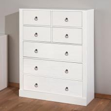 Stanley Chest Of Drawers In White With 7 Drawers