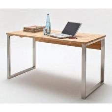 Lucy Solid Core Beech Computer Desk With Chrome Legs