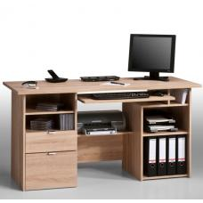 Capella Sanoma Oak Computer Work Station And Drawers