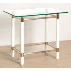 Palaccio Gold Plated Gloss White Occasional Tables
