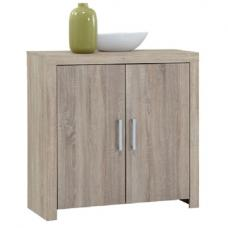 Country11 Oak Finish 2 Door Compact Sideboard