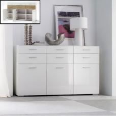Portland Sideboard In White High Gloss With 3 Door