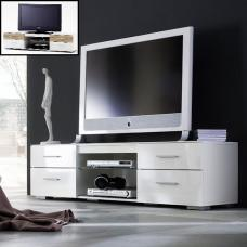 Portland LCD TV Stand In White High Gloss