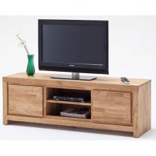 Santos LCD TV Stand In Solid Knotty Oak With 2 Doors
