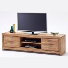 Santos LCD TV Stand In Solid Knotty Oak With 4 Drawers