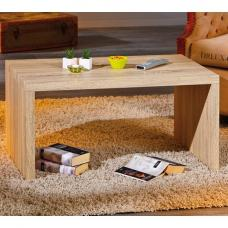 Amulet Wooden Coffee Table Rectangular In Sonoma Oak