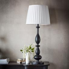 Perk Contemporary Table Lamp With Black Finish Base