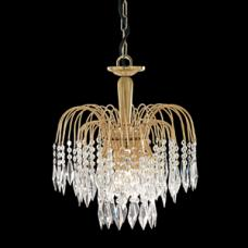 Crystal Lounge Waterfall Gold Plated Chandelier Ceiling Light