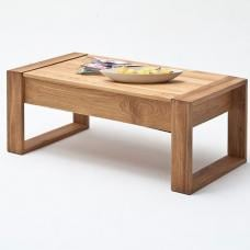 Victor Coffee Table In Rough Sawn Oak With Lift Function