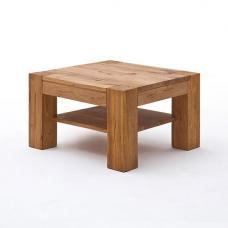 Lennox Wooden Coffee Table Square In Bassano Oak
