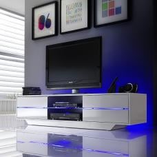 Sienna TV Stand Unit In High Gloss With Multi Led Lights