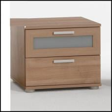 Jack 1 Walnut Bedside Cabinet With 2 Drawer