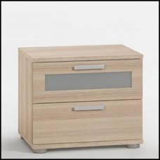 Jack1 Bedside Cabinet In Ashtree With 2 Drawer