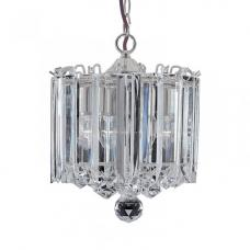 Sigma 3 Lamp Chrome Pendant With Clear Acrylic Prisms And Balls