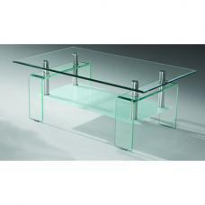 Palmer Glass Coffee Table With Frosted Undershelf