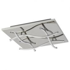 Modern Led Ceiling Square Flush Light In Chrome Finish