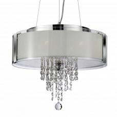 Orion Chrome Pendant Celing Light With Frosted Glass Panels