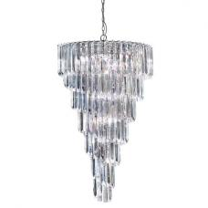 Sigma 9 Lamp Chrome Spiral Ceiling Light With Acrylic Prisms