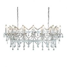 Beautiful Clear Crystal Light Pendant Bar In Chrome