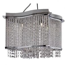 Elise Chrome Four Light Fitting With Crystal Button Drops