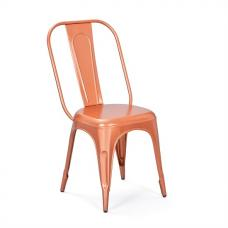 Aix Stackable Metal Dining Chair In Copper