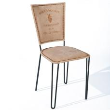 Rosi Dining Chair Canvas French Design Metal Frame Set Of Two