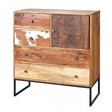 Natural Look Chest Of Drawers In Mango Wood