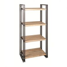 Miriam Shelving Unit Bookcase In Oak And Anthracite With 4 Shelf
